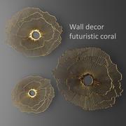 Wanddecoratie futuristisch koraal. Paneel. 3d model