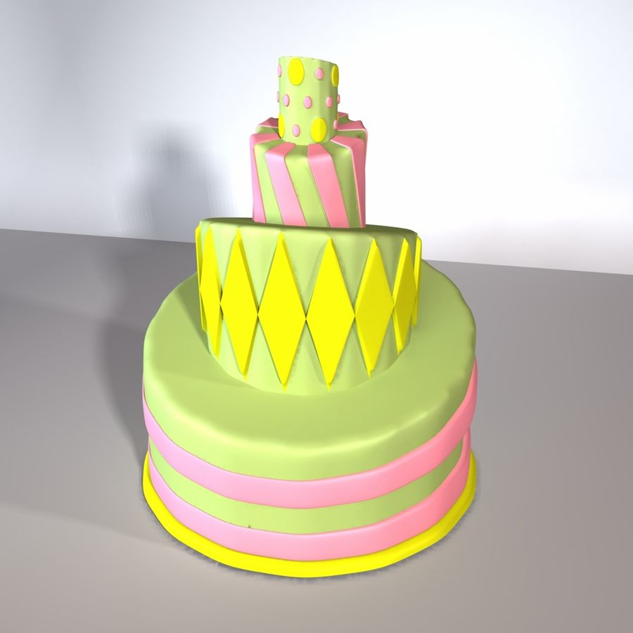 Toon Topsy Turvy Cake Too royalty-free 3d model - Preview no. 7