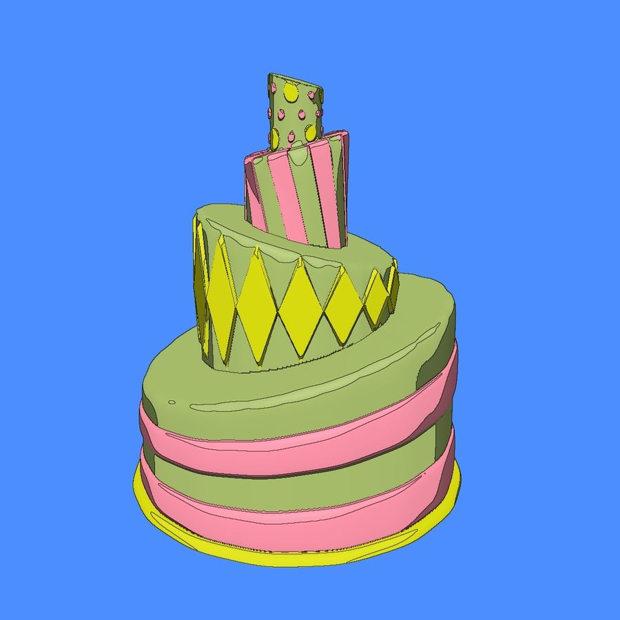 Toon Topsy Turvy Cake Too royalty-free 3d model - Preview no. 10