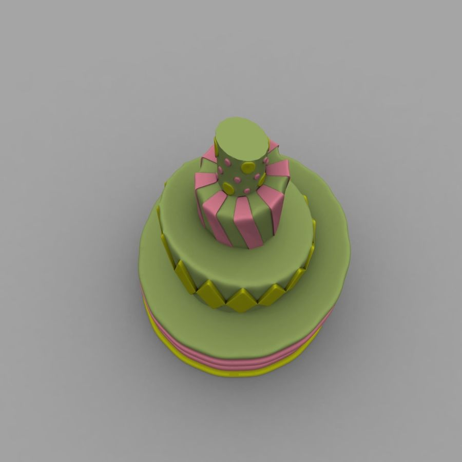 Toon Topsy Turvy Cake Too royalty-free 3d model - Preview no. 6