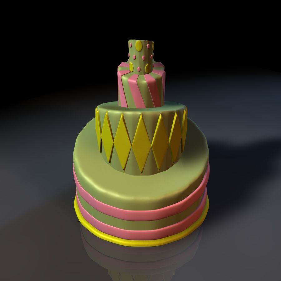 Toon Topsy Turvy Cake Too royalty-free 3d model - Preview no. 2