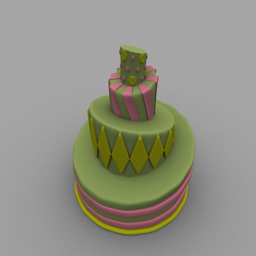 Toon Topsy Turvy Cake Too royalty-free 3d model - Preview no. 3