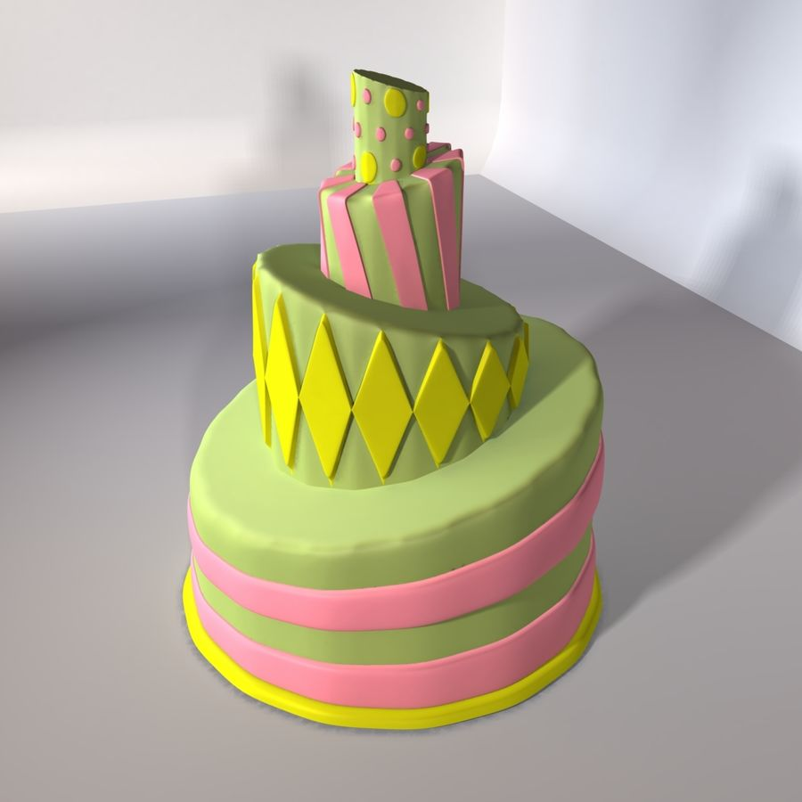 Toon Topsy Turvy Cake Too royalty-free 3d model - Preview no. 1