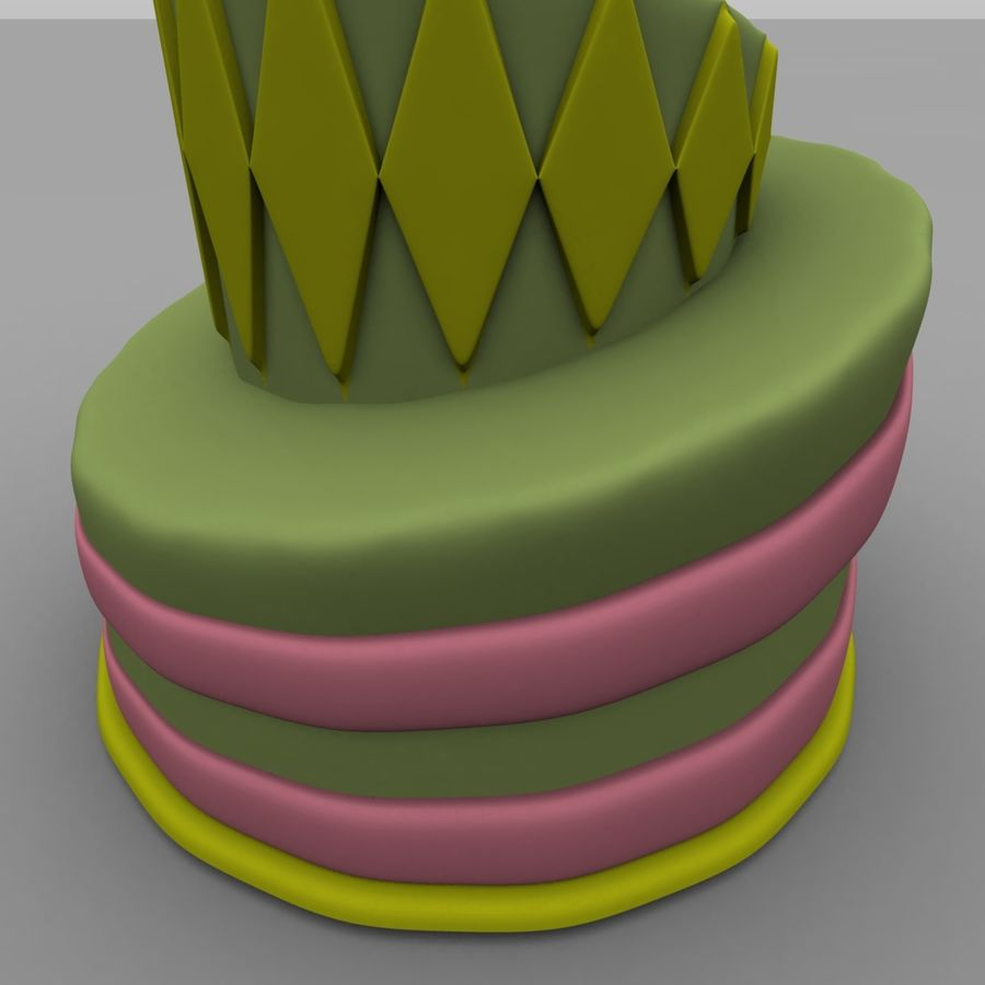 Toon Topsy Turvy Cake Too royalty-free 3d model - Preview no. 5