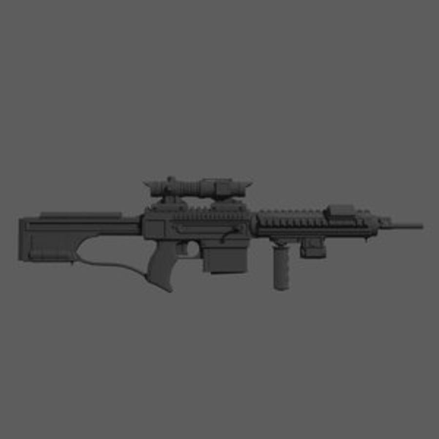 돌격 소총 royalty-free 3d model - Preview no. 1