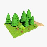Sapin de dessin animé 3d model