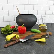 Gemüse in der Küche 3d model