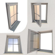 Window component Rigged and Animated 3d model