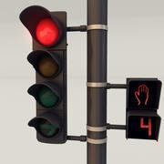 Zestaw sygnalizacji świetlnej 3d model