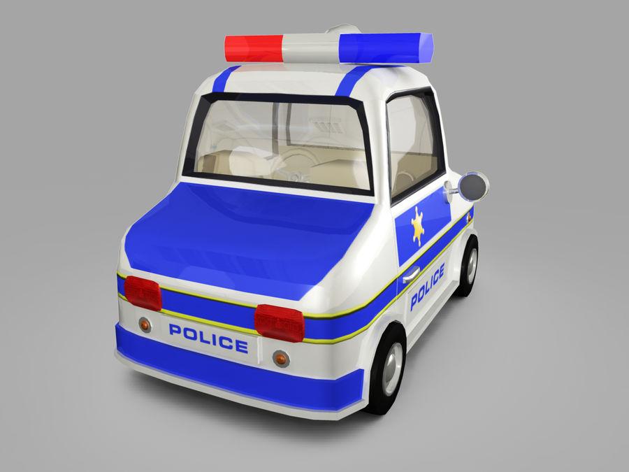 Samochód policyjny royalty-free 3d model - Preview no. 7