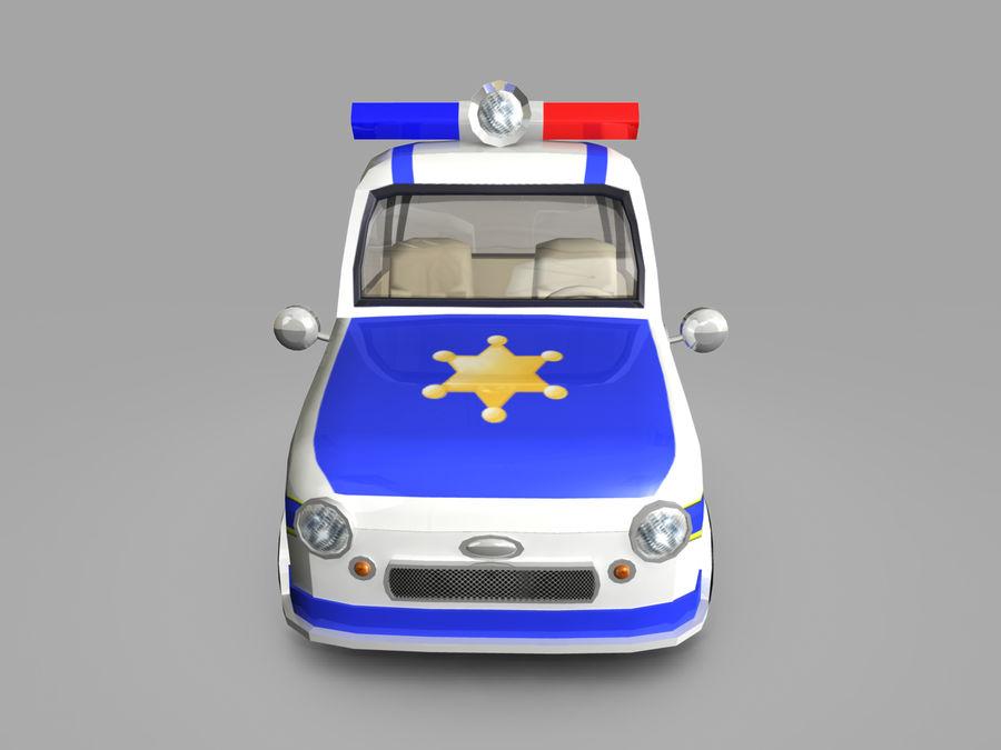 Samochód policyjny royalty-free 3d model - Preview no. 2