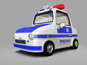 Samochód policyjny 3d model