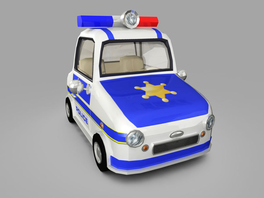 Samochód policyjny royalty-free 3d model - Preview no. 6