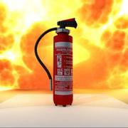Fire Extinguisher Red 3d model