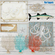 Ayarlamak. Deniz. Mercan. Resim. Panel. Yazı tahtası. 3d model