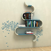 Bookshelf with lots of books 3d model
