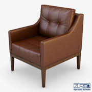 卡门扶手椅棕色 3d model