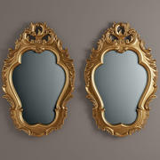 carved mirror 3d model