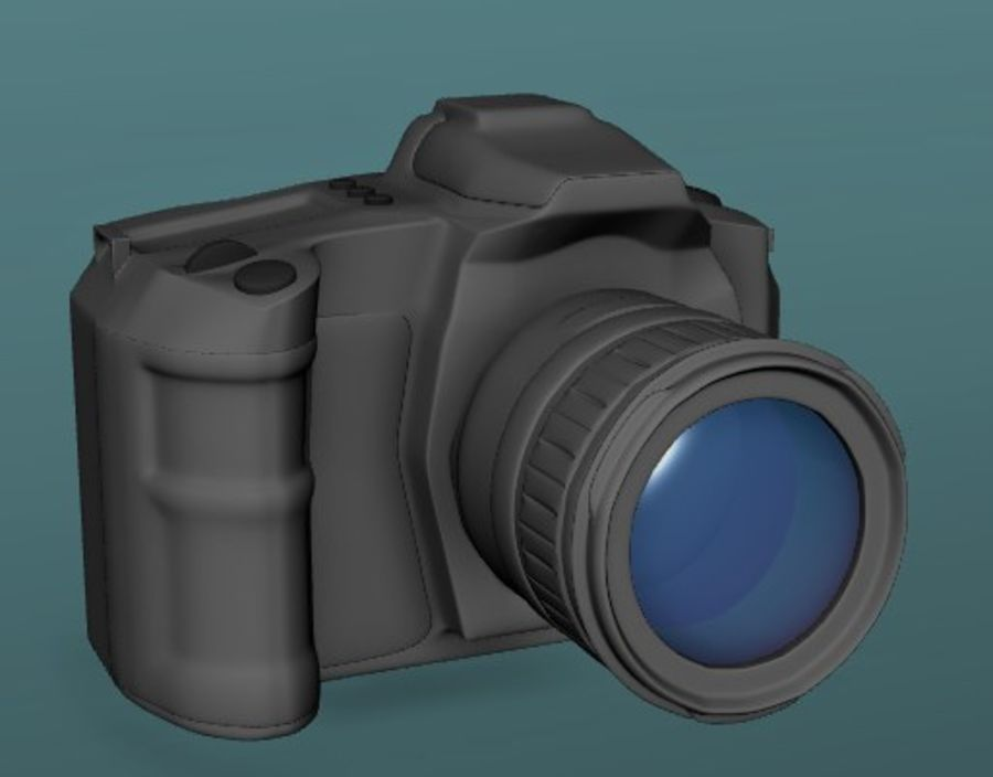 Aparat DSLR royalty-free 3d model - Preview no. 8