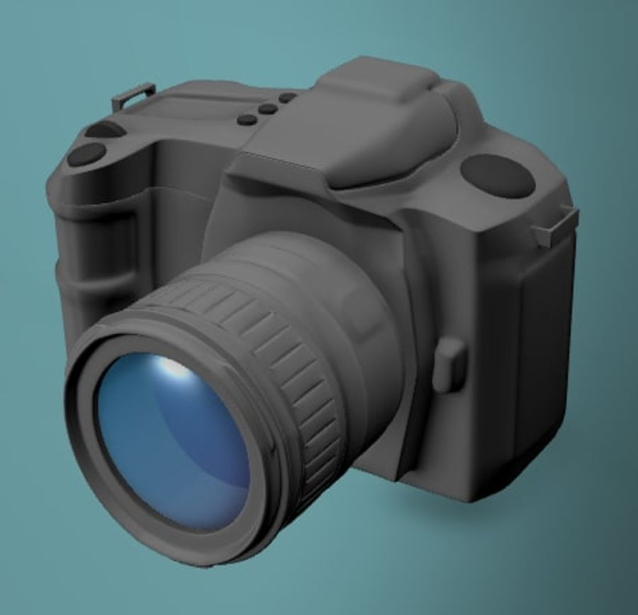 Aparat DSLR royalty-free 3d model - Preview no. 7