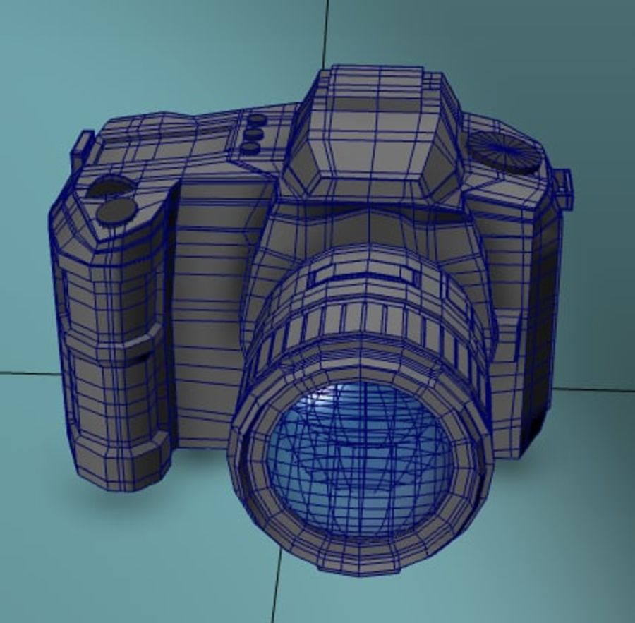 Aparat DSLR royalty-free 3d model - Preview no. 3