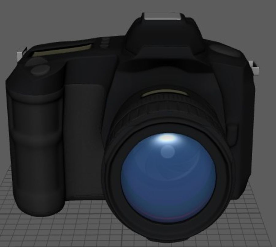 Aparat DSLR royalty-free 3d model - Preview no. 2