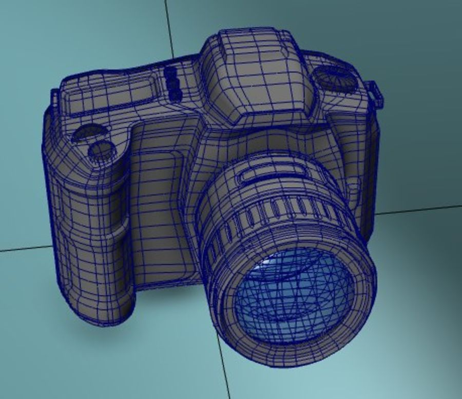 Aparat DSLR royalty-free 3d model - Preview no. 4