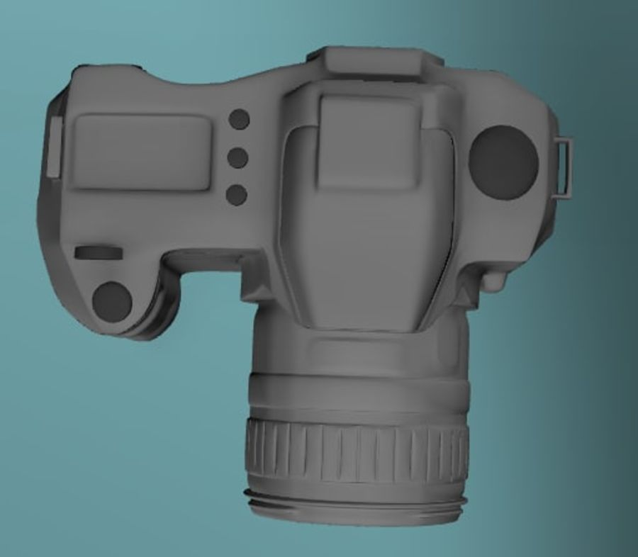 Aparat DSLR royalty-free 3d model - Preview no. 6