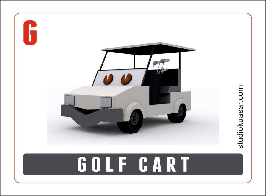 Cartoon Golf Cart 3d Model 20 Unknown Fbx Max Free3d
