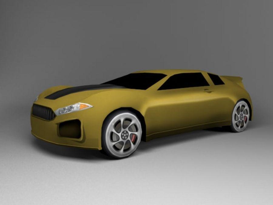 3D汽车低聚 royalty-free 3d model - Preview no. 23