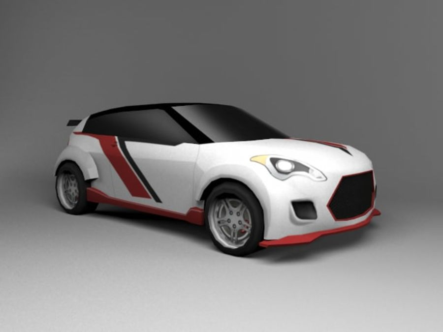 3D汽车低聚 royalty-free 3d model - Preview no. 21
