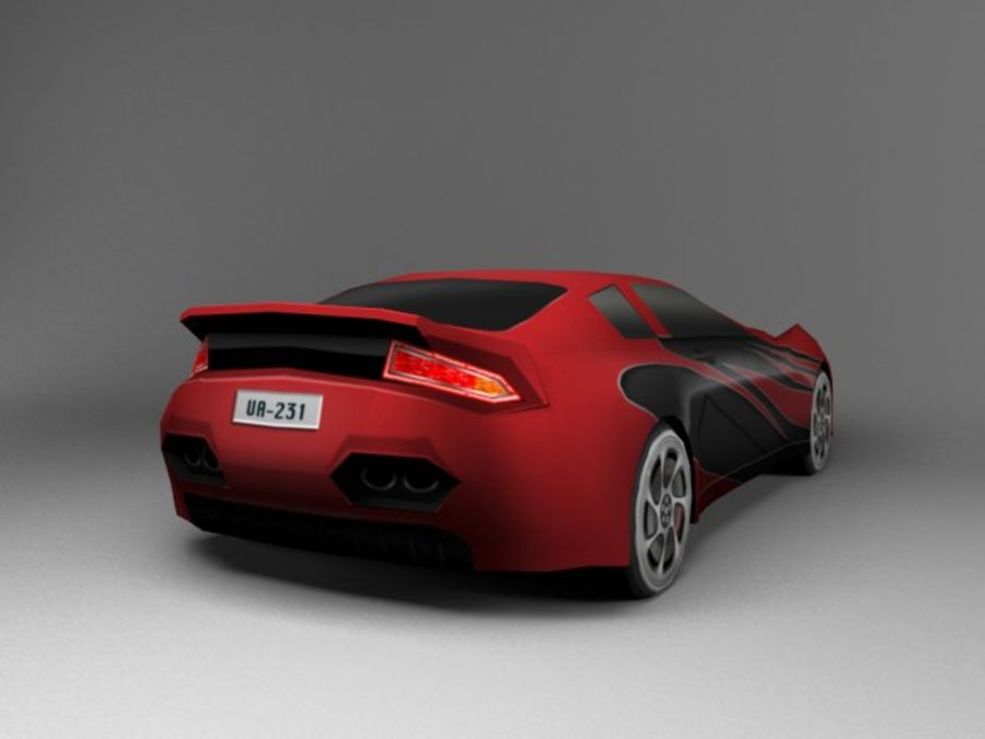 3D汽车低聚 royalty-free 3d model - Preview no. 6
