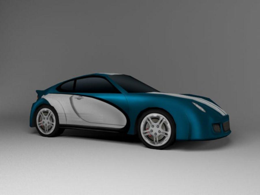 3D汽车低聚 royalty-free 3d model - Preview no. 1