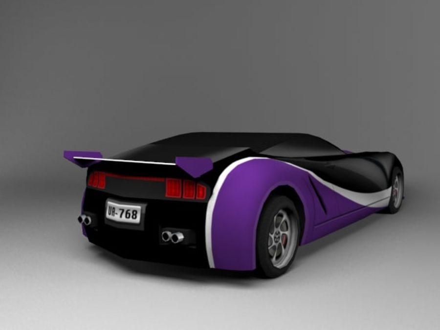 3D汽车低聚 royalty-free 3d model - Preview no. 19