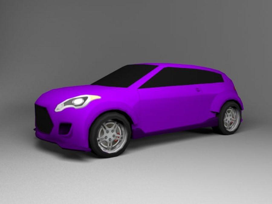 3D汽车低聚 royalty-free 3d model - Preview no. 24
