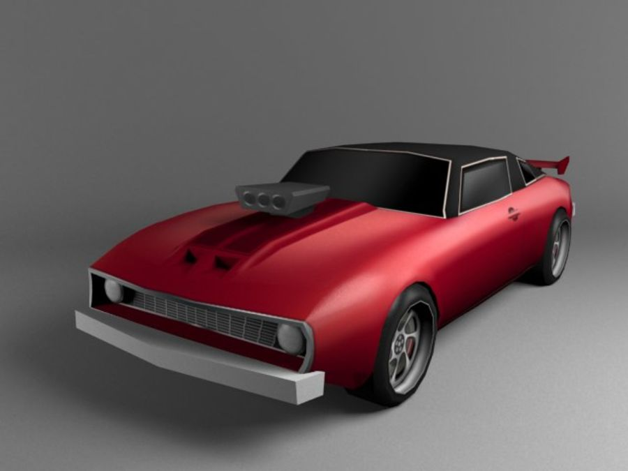 3D汽车低聚 royalty-free 3d model - Preview no. 11