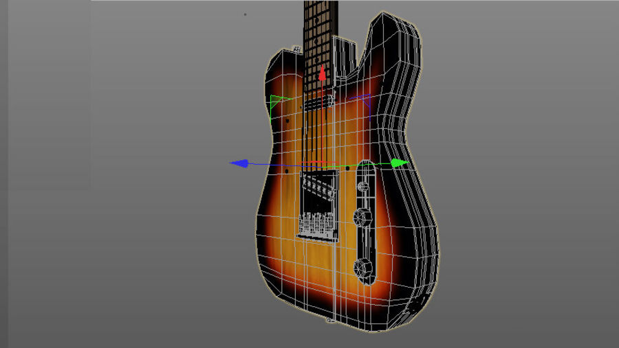Fender Telecaster royalty-free 3d model - Preview no. 9