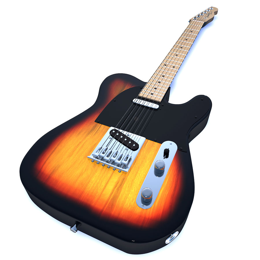 Fender Telecaster royalty-free 3d model - Preview no. 1
