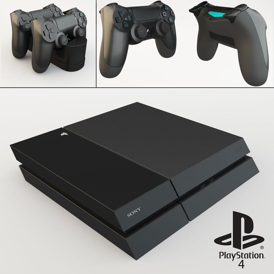 索尼Playstation 4 royalty-free 3d model - Preview no. 1