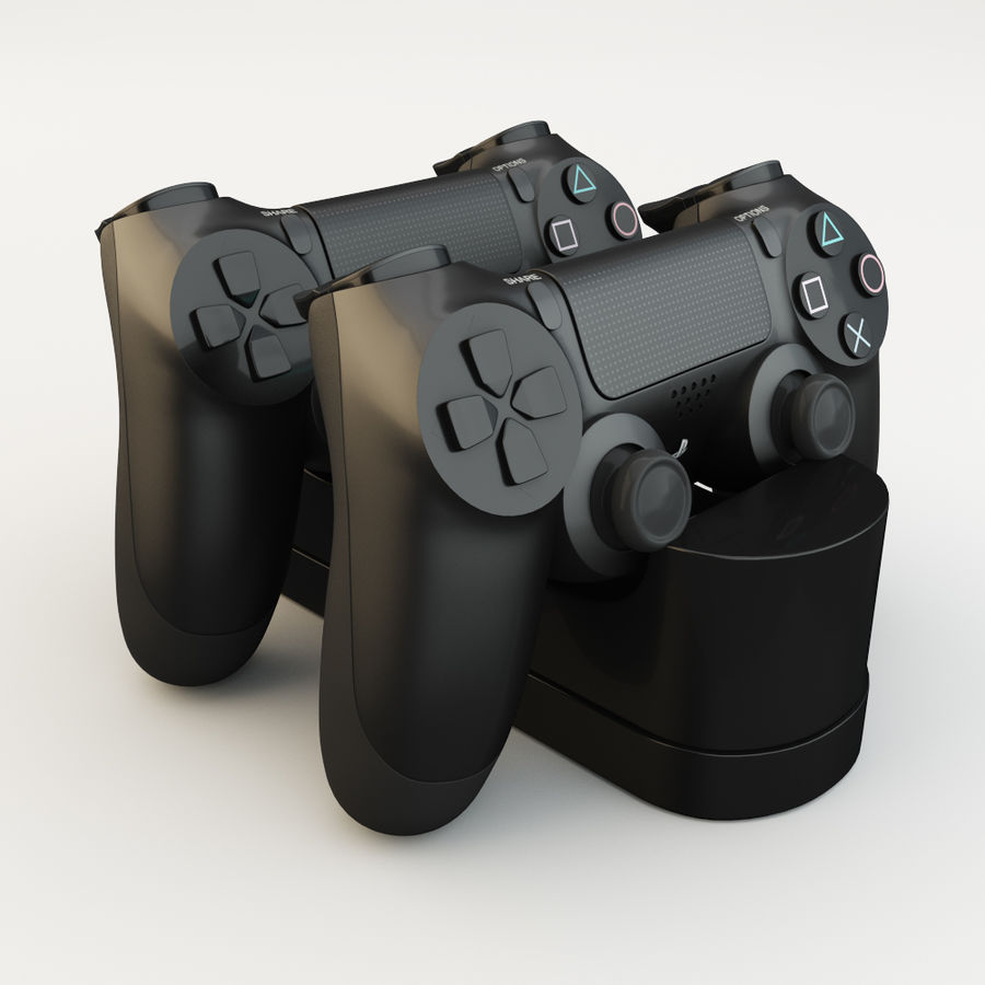 Sony Playstation 4 royalty-free 3d model - Preview no. 3