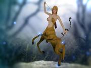 Centaure femelle 3d model