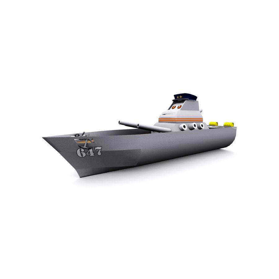 okręt wojenny z kreskówki royalty-free 3d model - Preview no. 1