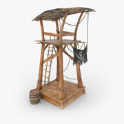 Drewniana wieża obserwacyjna piratów 3d model