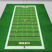 Amerikansk stadion fält låg poly 3d model