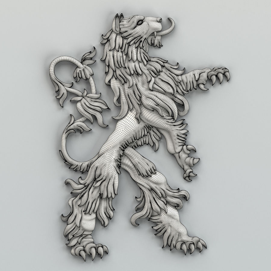 Decorazioni animali 001 royalty-free 3d model - Preview no. 8