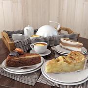 Set of cakes 3d model