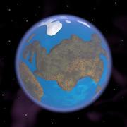 지구의 풍자 만화 3d model