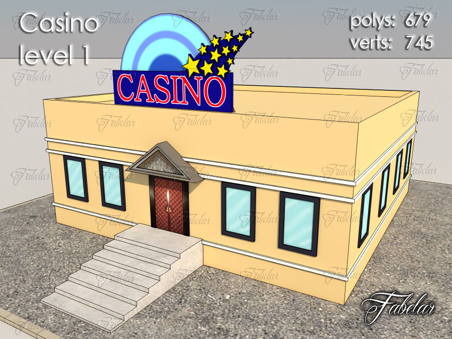 Poziom kasyna 1 royalty-free 3d model - Preview no. 3