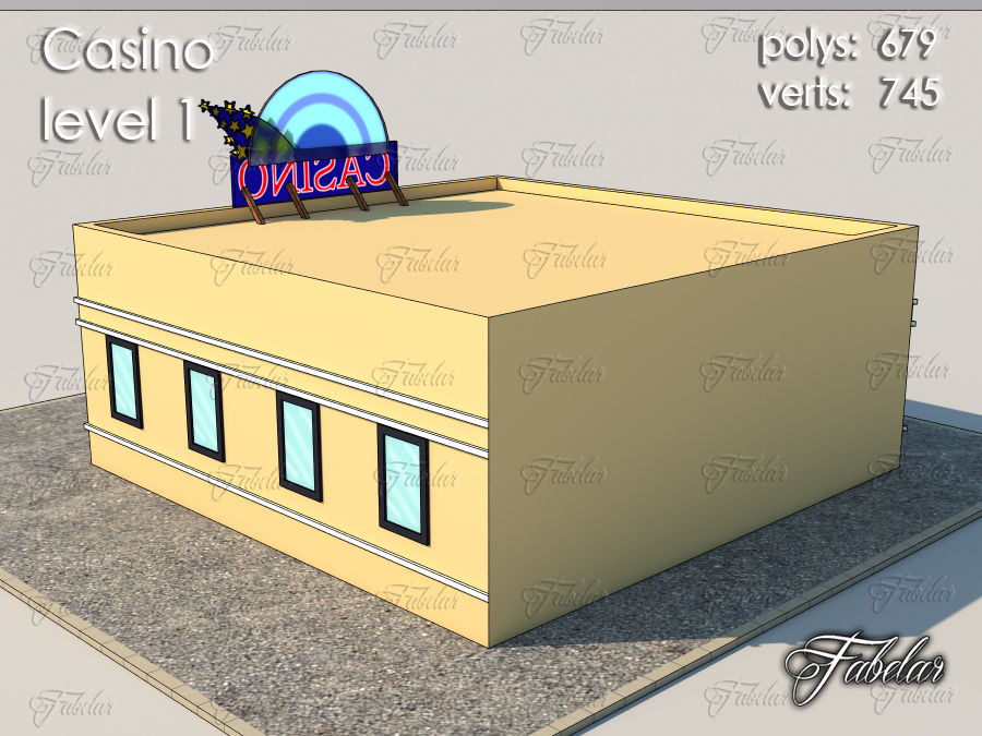 Poziom kasyna 1 royalty-free 3d model - Preview no. 6
