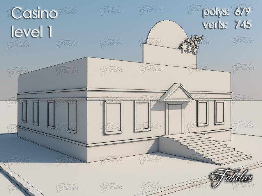Poziom kasyna 1 royalty-free 3d model - Preview no. 7